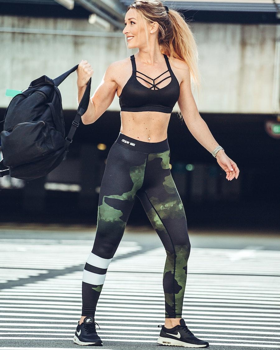 Dope Razor Women's Leggings Green Camo