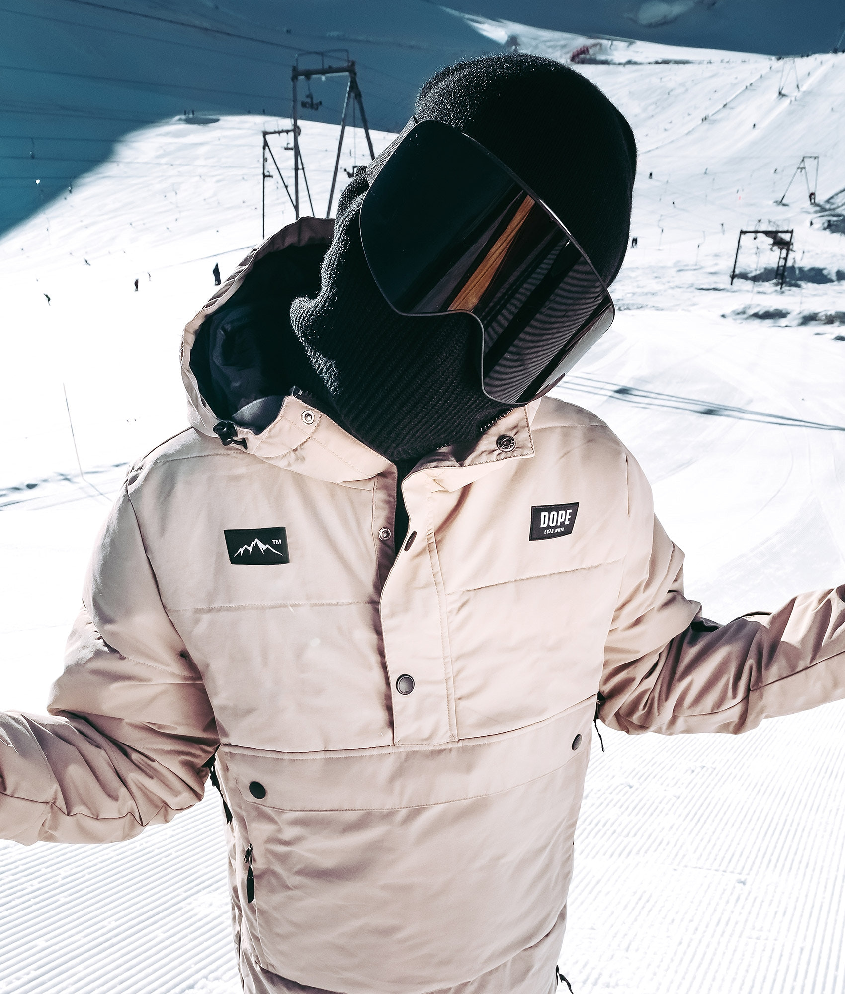 ed5ad8f927e5 Dope Puffer Snowboard Jacket Sand - Ridestore.com
