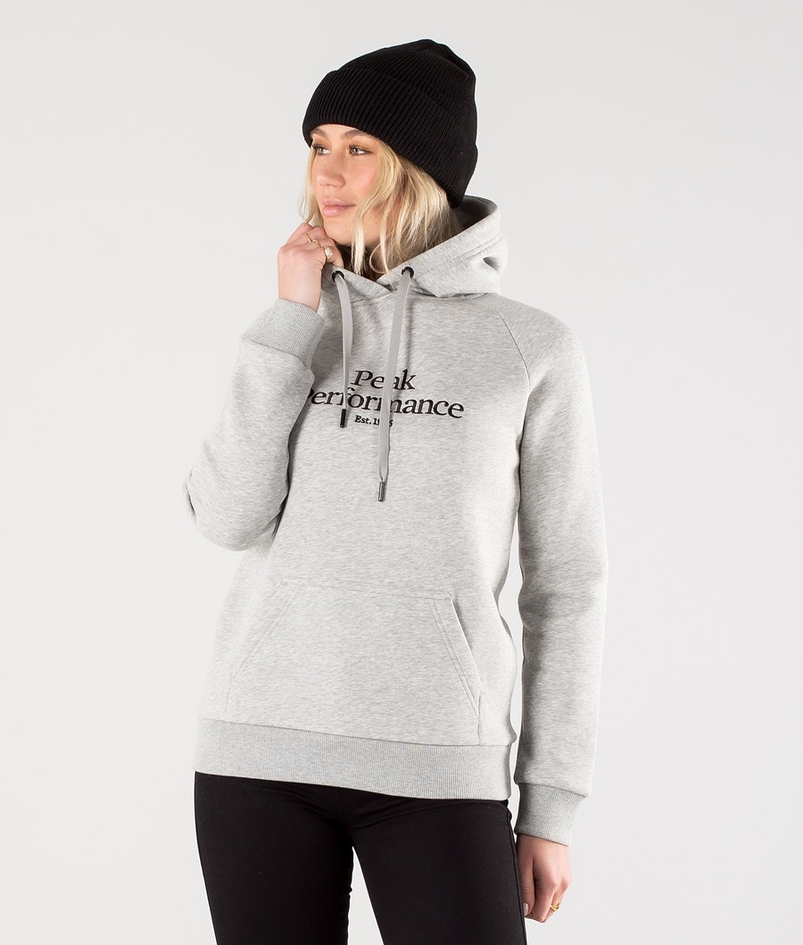 Peak Performance Original Hood Med Grey Melange