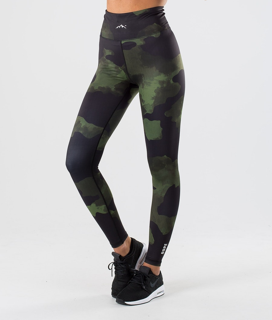 Dope Lofty Women's Leggings Green Camo