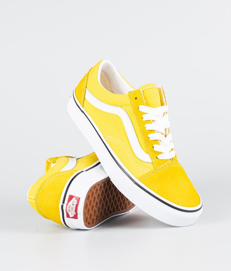 Vans Ua Old Skool Skor Cyber Yellow/True White