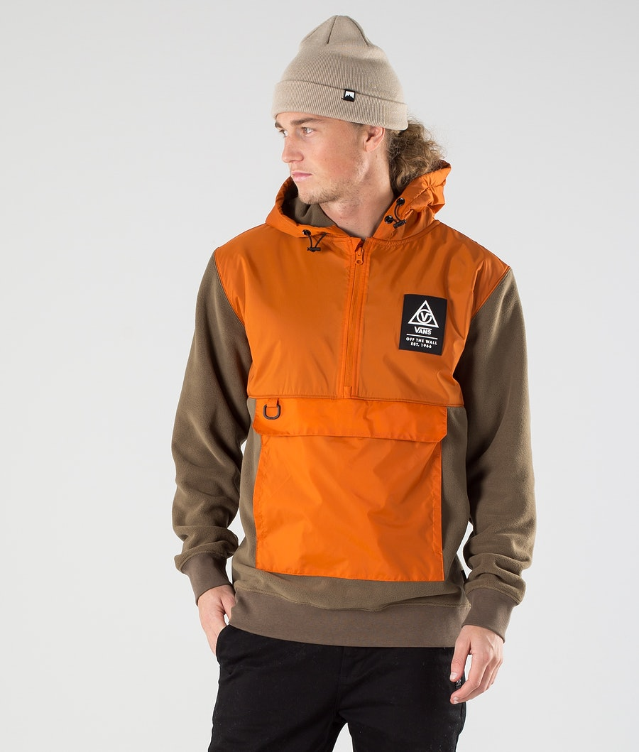 Vans 66 Supply Polar Fleecepullover Canteen/Gold Flame