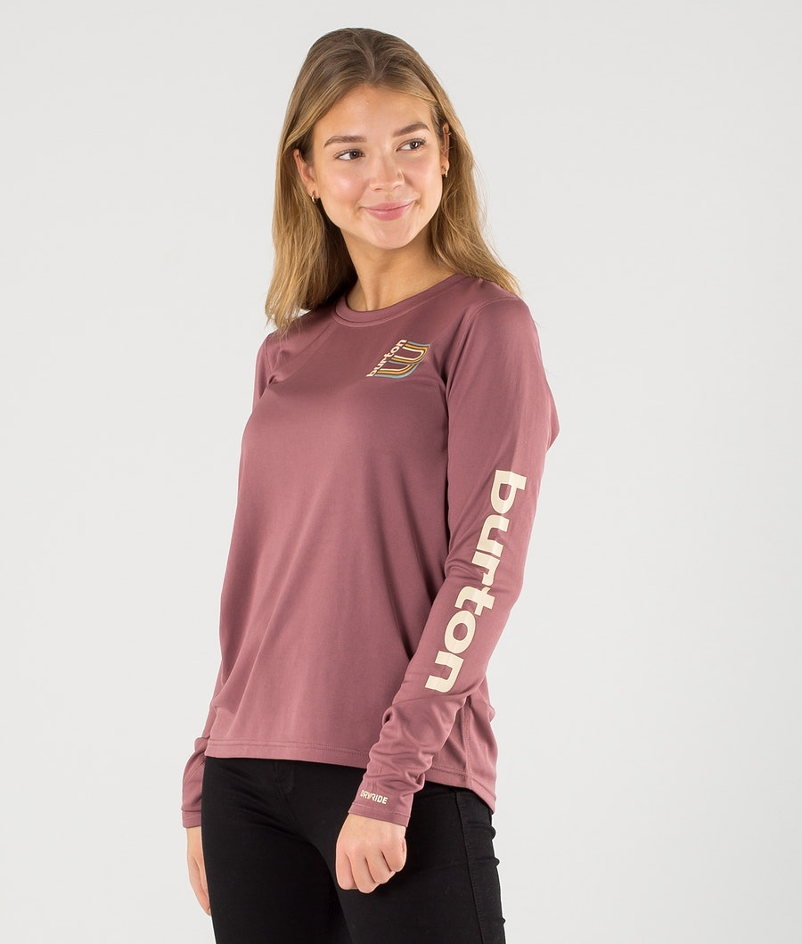 Burton Multipath Manica lunga Donna Rose Brown