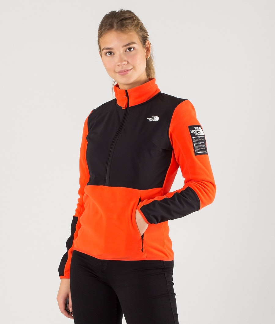 The North Face Diablo Midlayer 1/4 Zip Fleecetröja Flare/Tnf Black