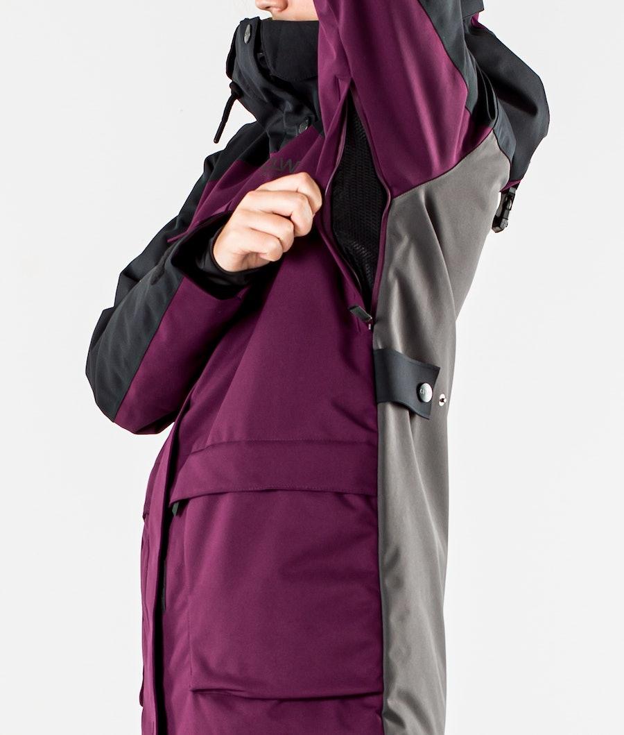 ColourWear Blaze Snowboard jas Dames Deep Red