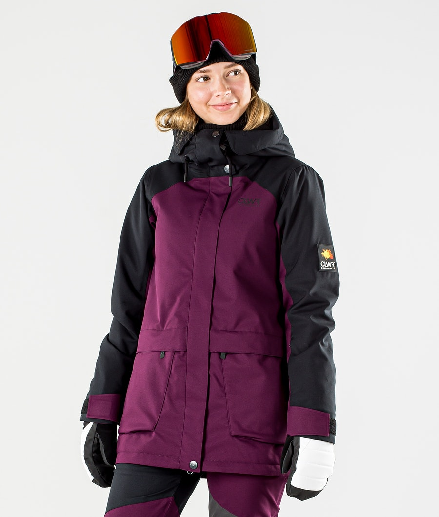 ColourWear Blaze Snowboard Jacket Deep Red