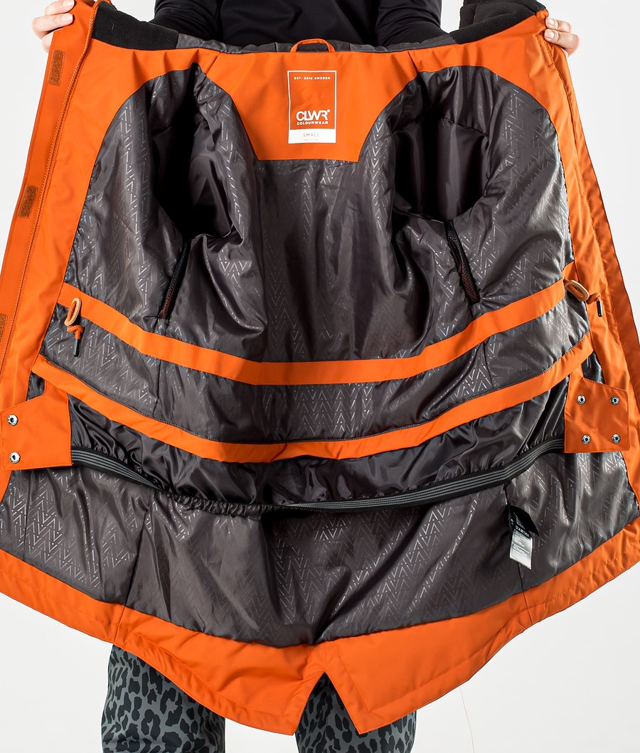 ColourWear Track Parka Snowboard jas Dames Dark Orange
