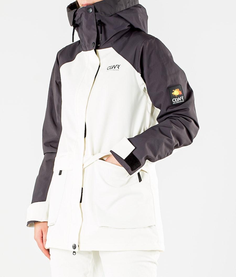 ColourWear Blaze Snowboard jas Dames Offwhite