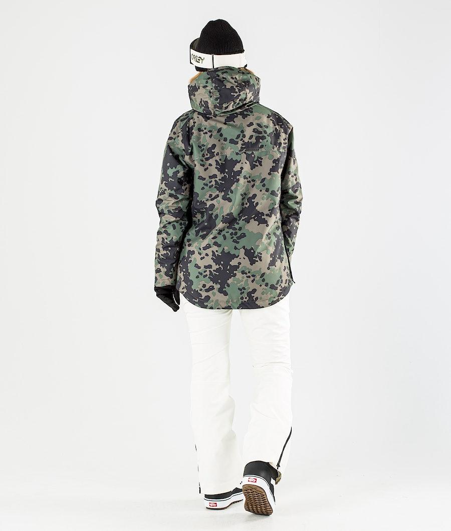 ColourWear Homage Anorak Snowboard jas Dames Khaki