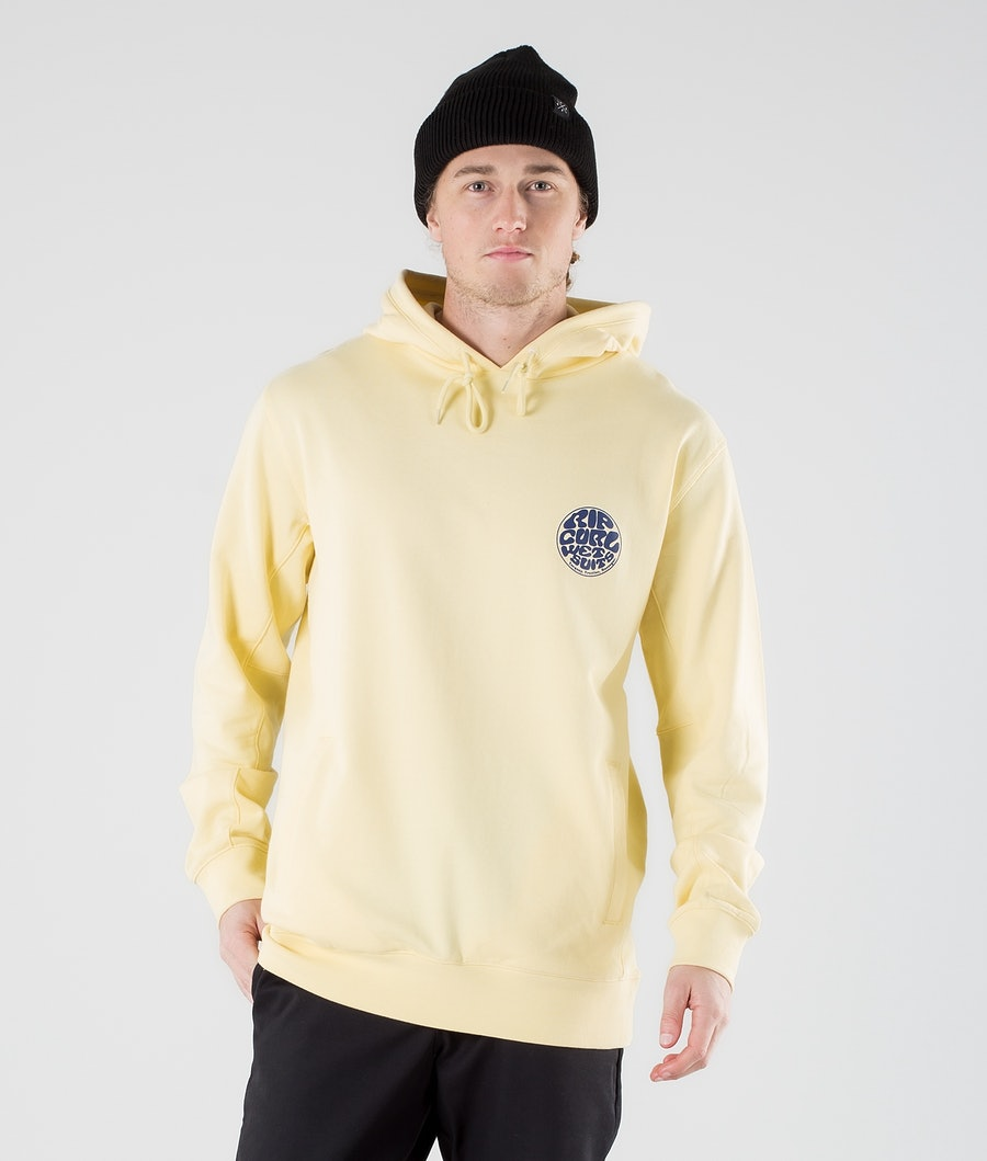 Rip Curl Os Pop Over Print Hoodie Pale Yellow