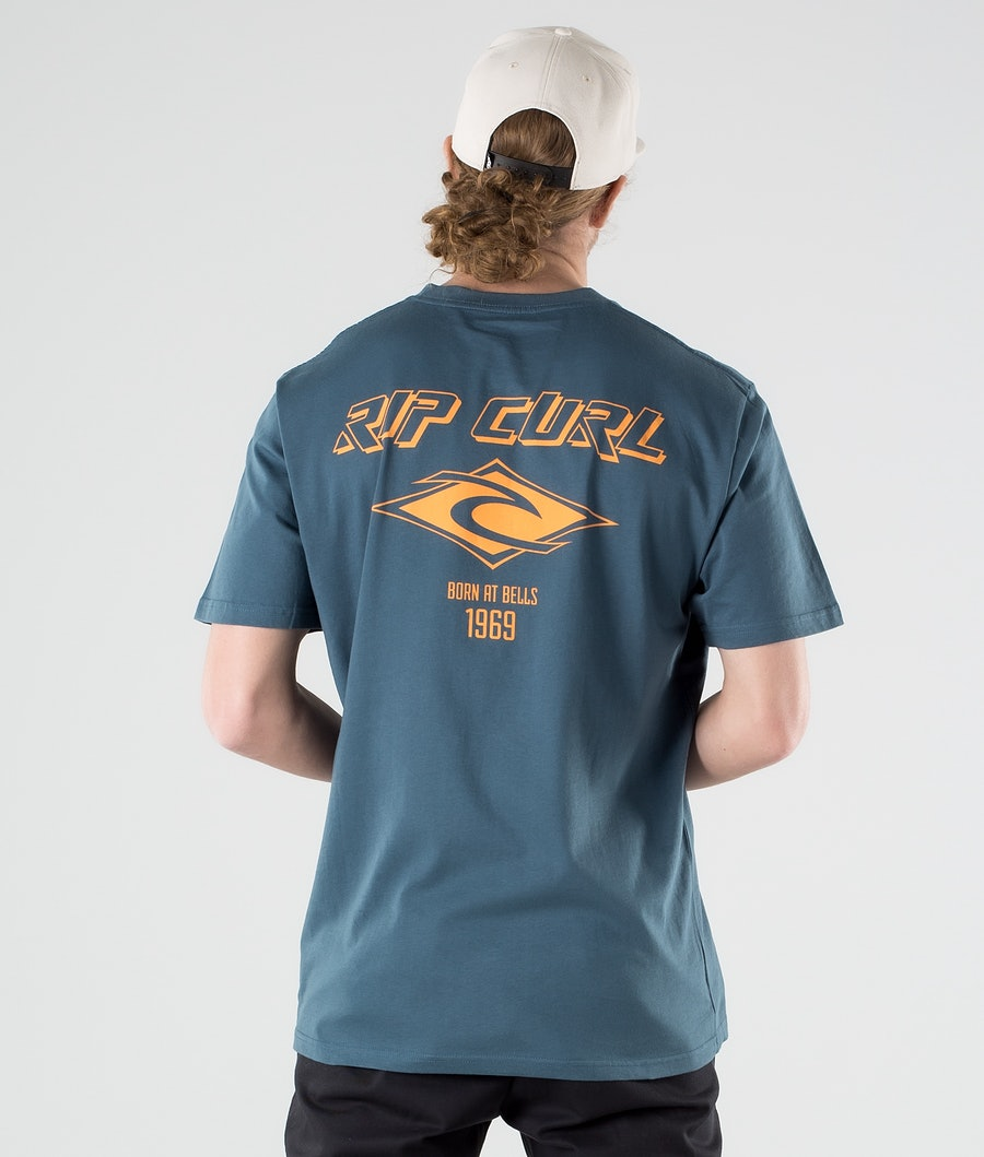 Rip Curl Fadeout Essential T-paita Washed Navy