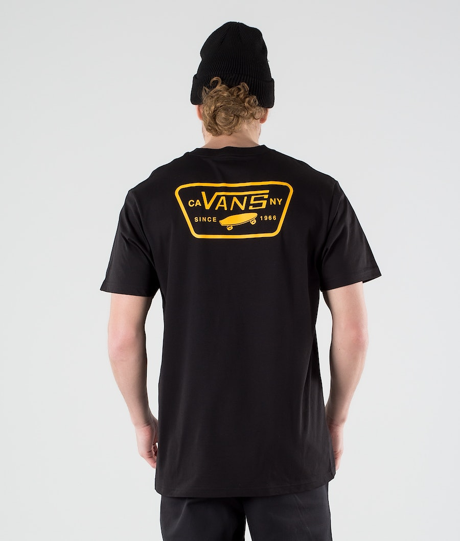 Vans Full Patch Back T-shirt Black/Saffron