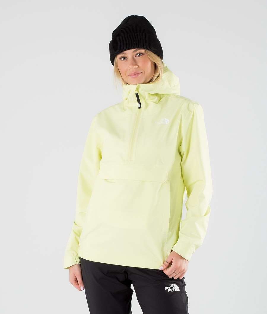 The North Face Waterproof Fanorak Outdoor Jas Pale Lime Yellow