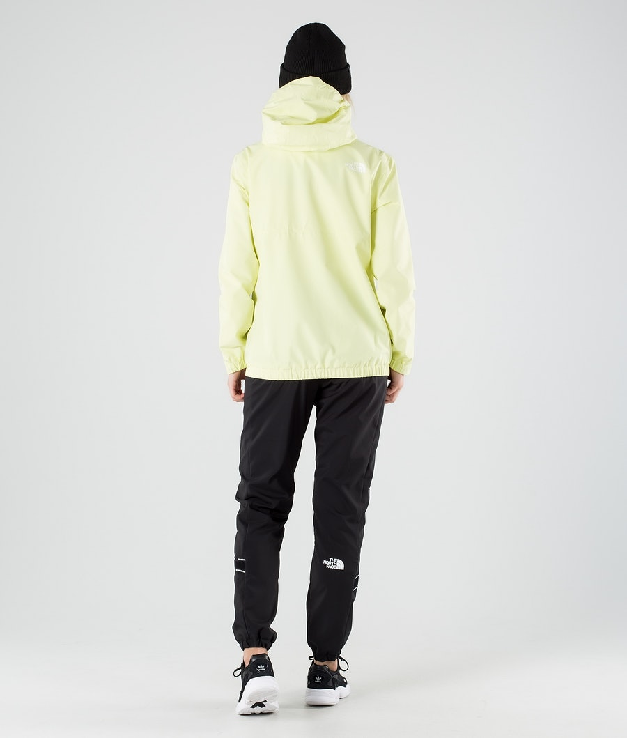The North Face Waterproof Fanorak Outdoor Jas Dames Pale Lime Yellow