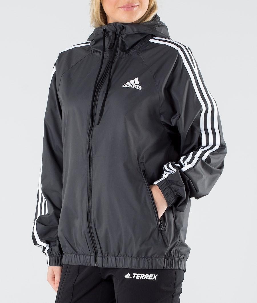 Adidas Terrex BSC 3 Stripes Wind Jacka Dam Black
