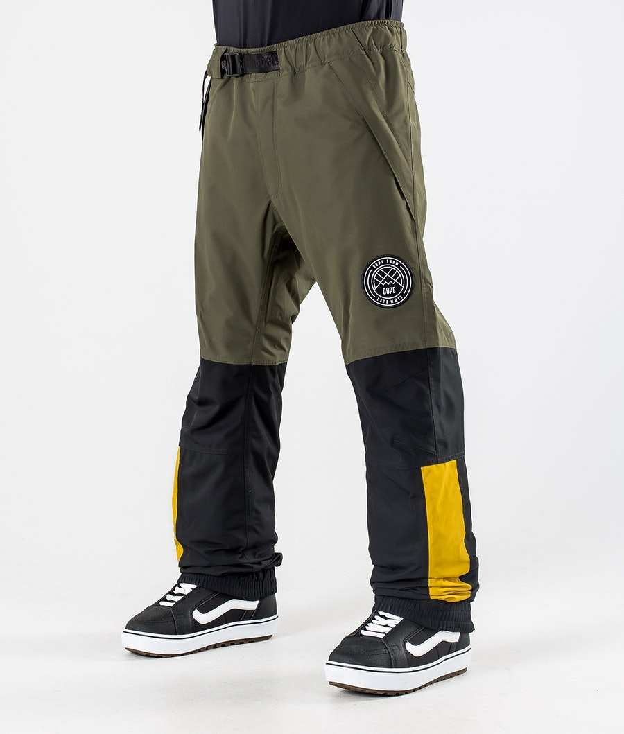Dope Blizzard LE Snowboard Pants Green Multicolour