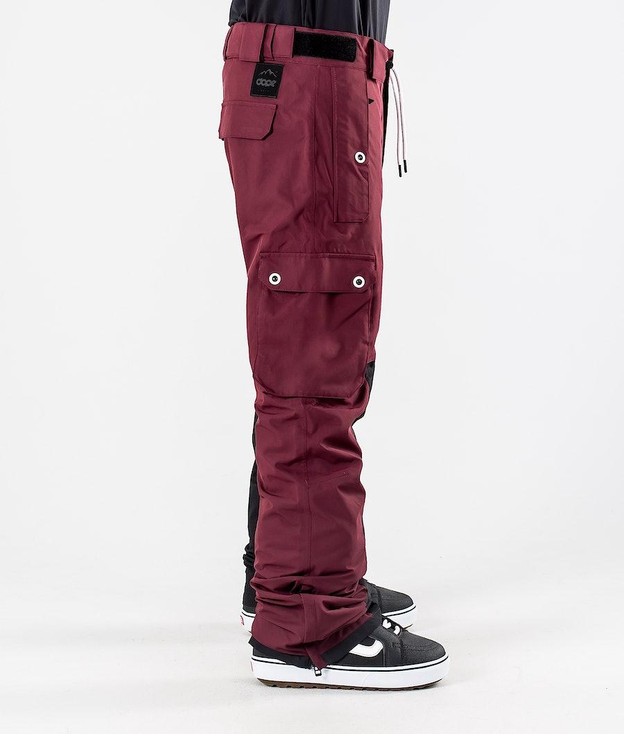 Dope Adept Snowboard Pants Burgundy/Black