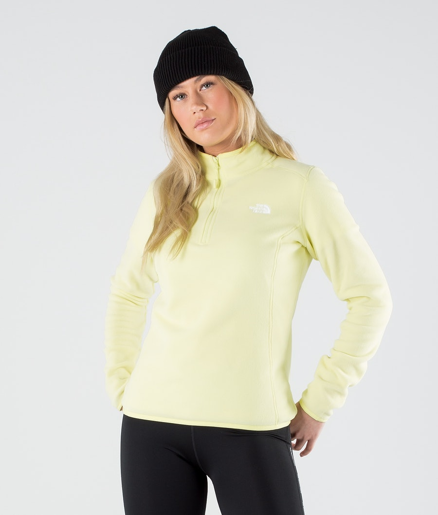 The North Face 100 Glacier 1/4 Zip Felpa Pile Pale Lime Yellow