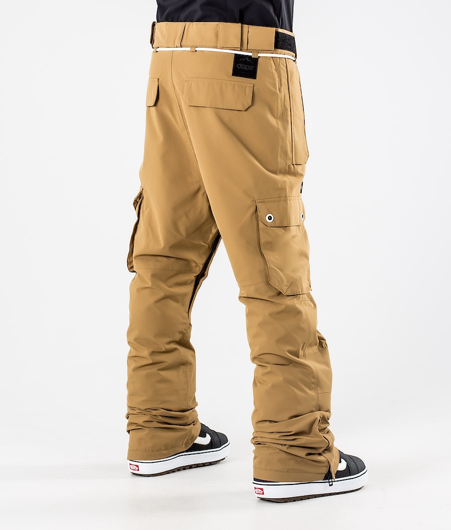 Dope Iconic Snowboard Pants Gold
