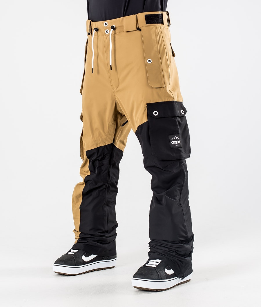 Dope Adept Snowboard Pants Gold/Black