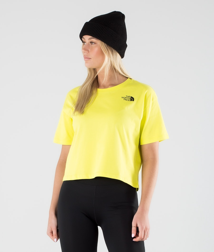 The North Face Cropped Simple Dome T-shirt Sulphur Spring Green