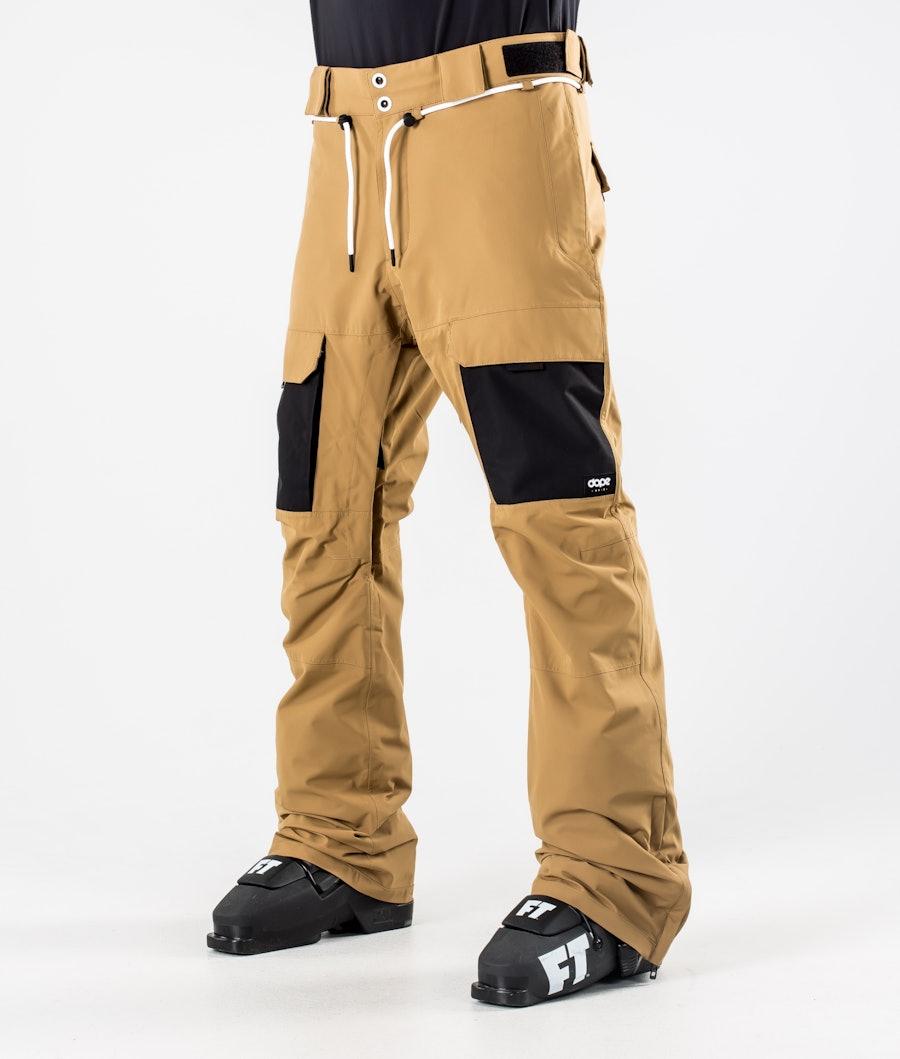 Dope Poise Ski Pants Gold/Black