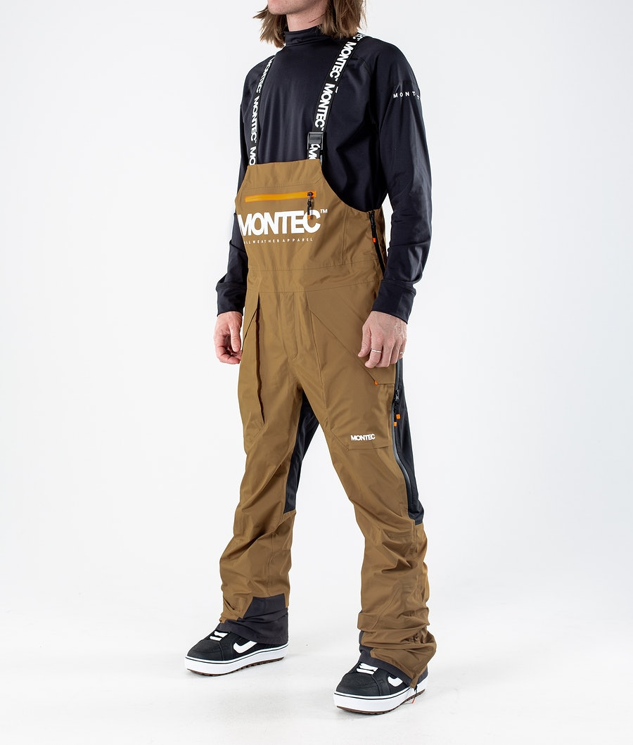 Montec Fenix 3L Pantaloni da Snowboard Gold