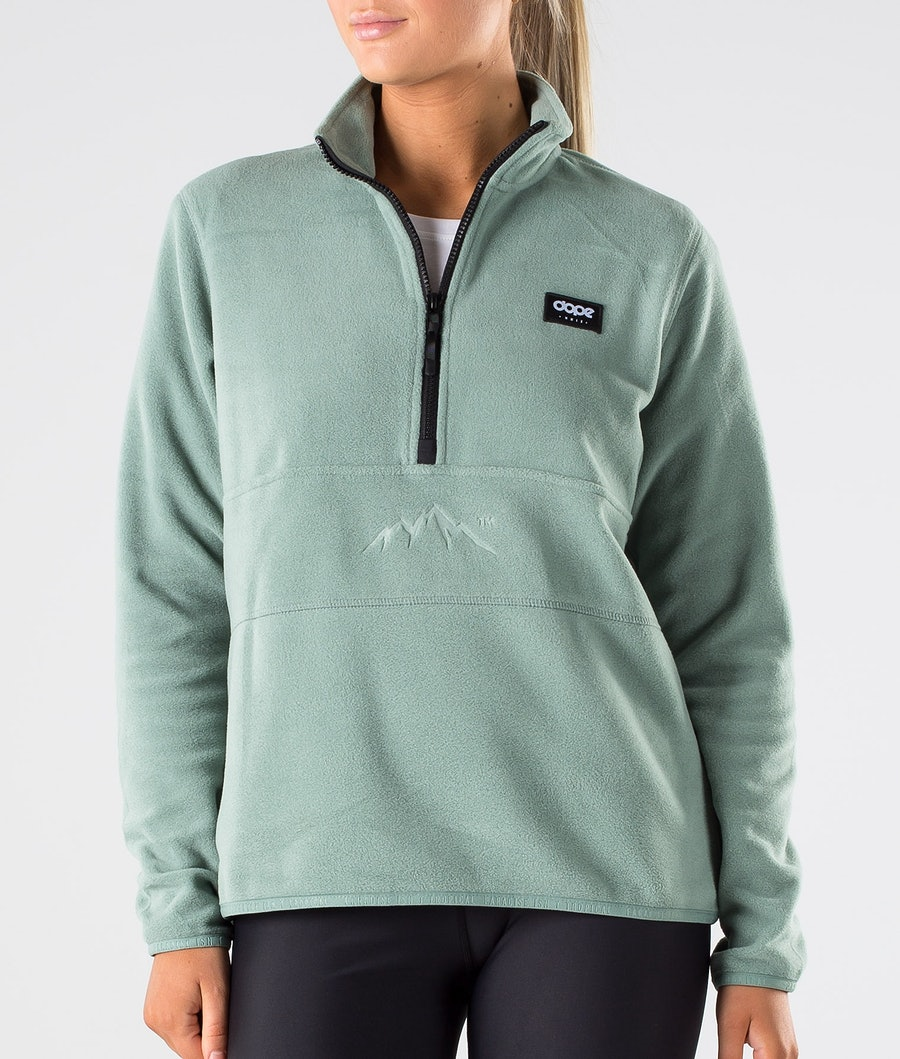 Dope Loyd W Polartec Felpa Pile Donna Faded Green
