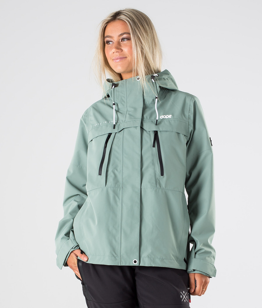 Dope Trekker W Outdoorjacke Faded Green