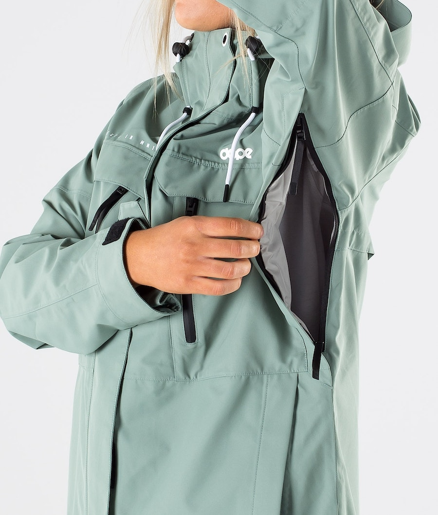 Dope Trekker W Women's Outdoor Jacket Faded Green