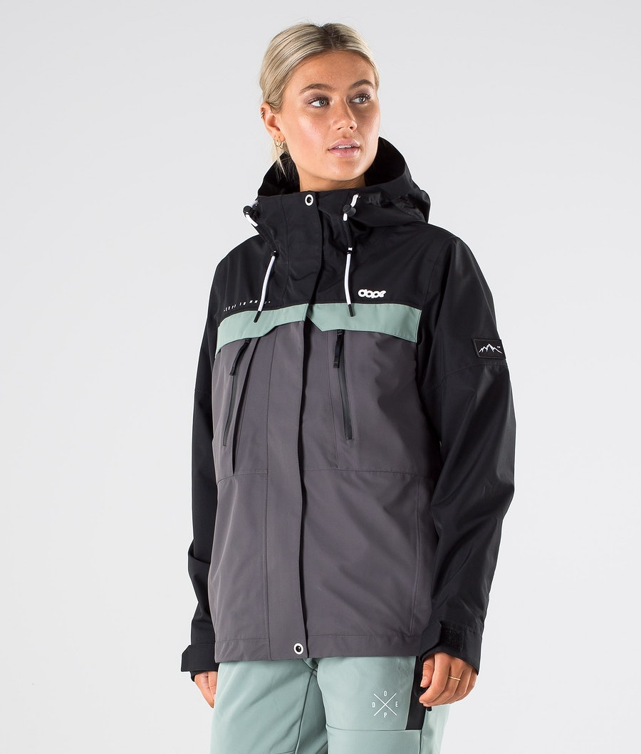 Dope Trekker W Outdoorjacke Black/Faded Green/Blackened Pearl