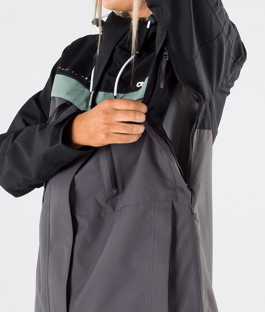 Dope Trekker W Women's Outdoor Jacket Black/Faded Green/Blackened Pearl