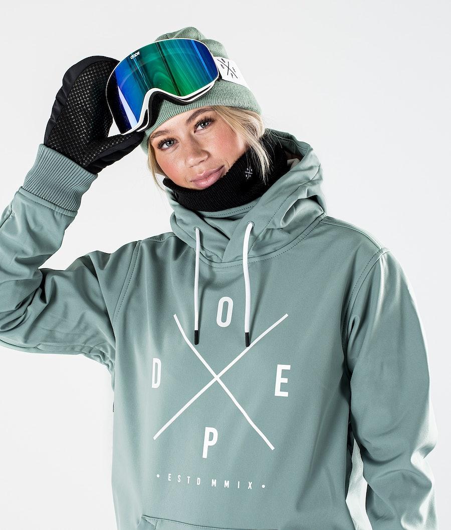 Dope Yeti W Giacca da Snowboard Donna Faded Green