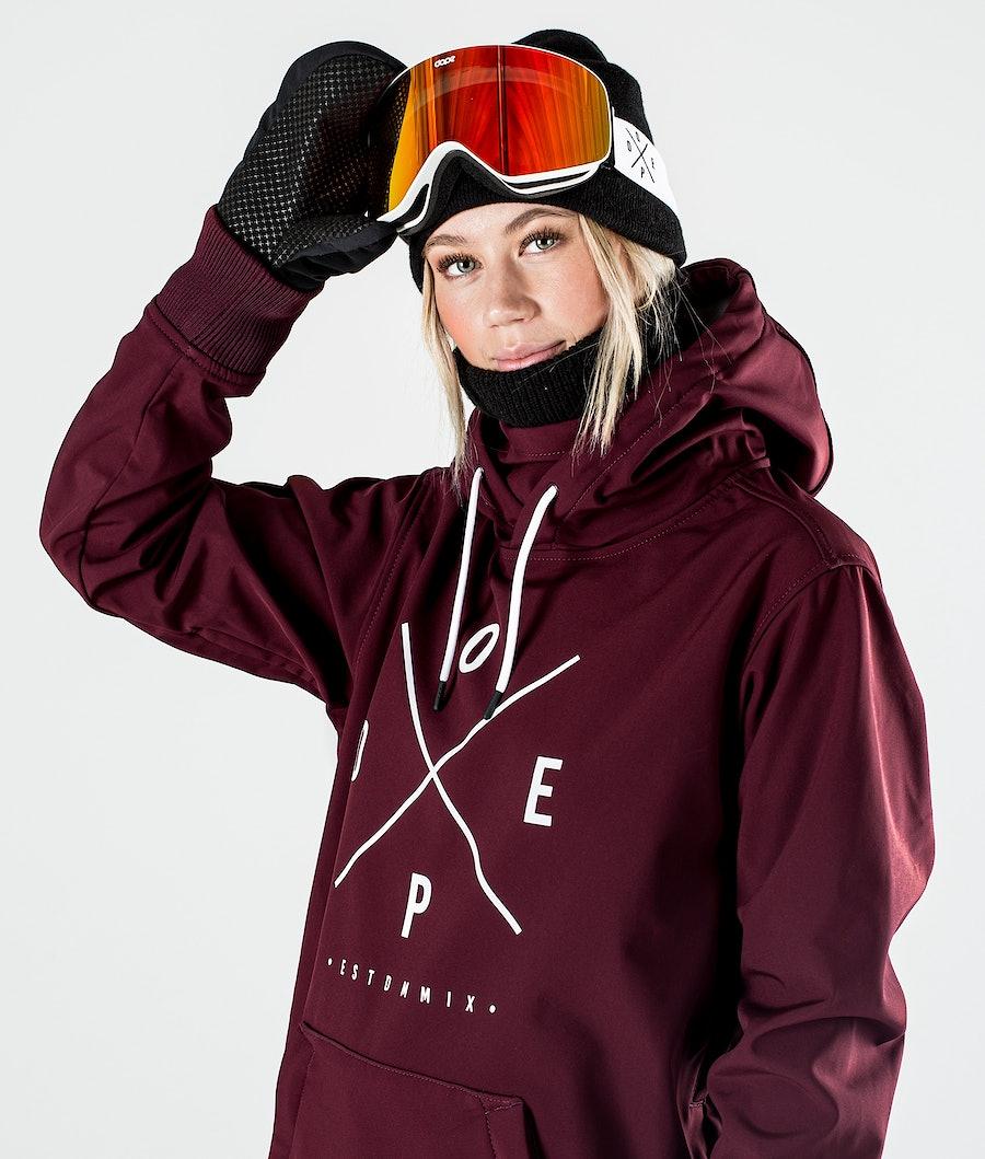 Dope Yeti W Snowboardjacka Dam Burgundy