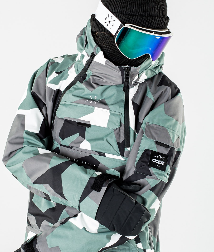 Dope Akin Ski Jacket Faded Green Camo