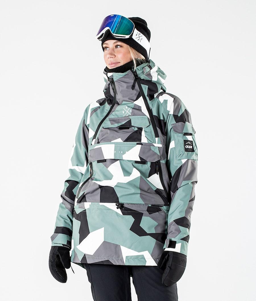Dope Akin W Ski Jacket Faded Green Camo