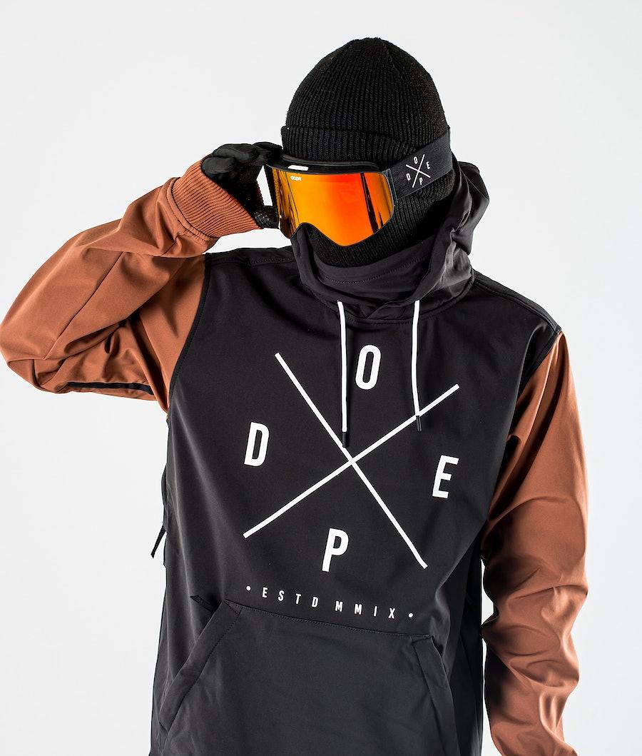 Dope Yeti Ski Jacket Black/Adobe