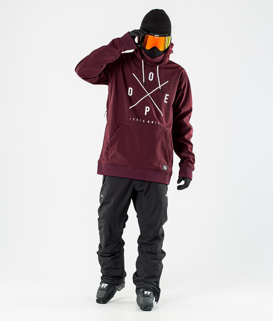 Dope Yeti Ski Jacket Burgundy