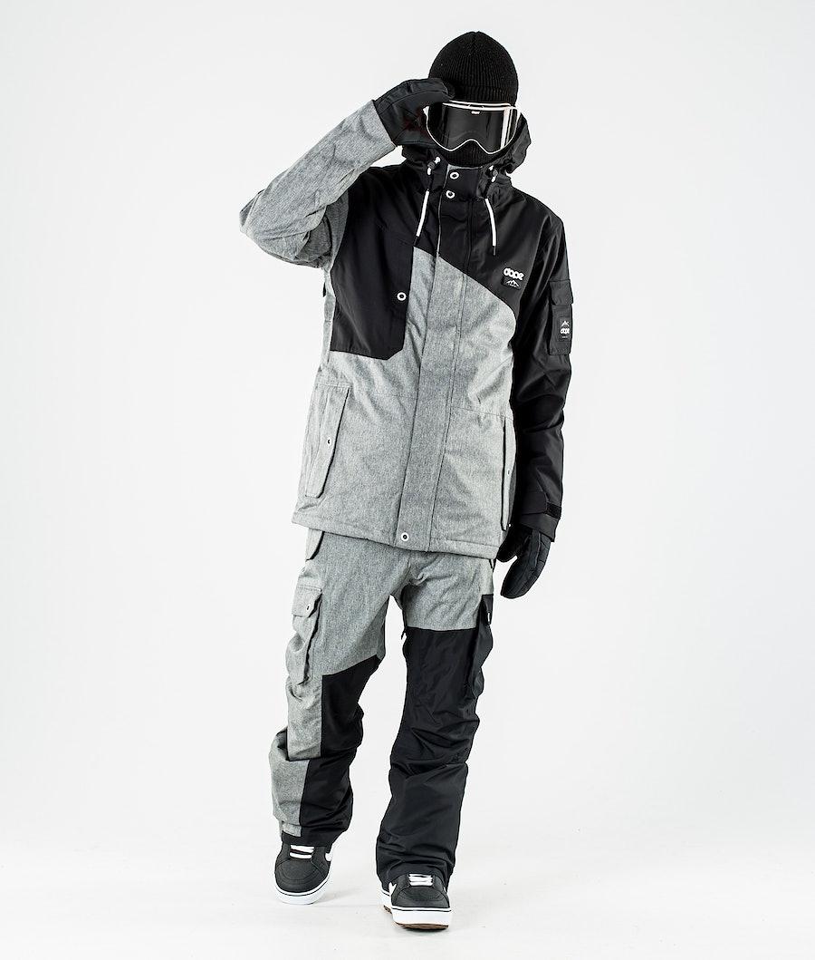 Dope Adept Snowboard Jacket Black/Grey Melange