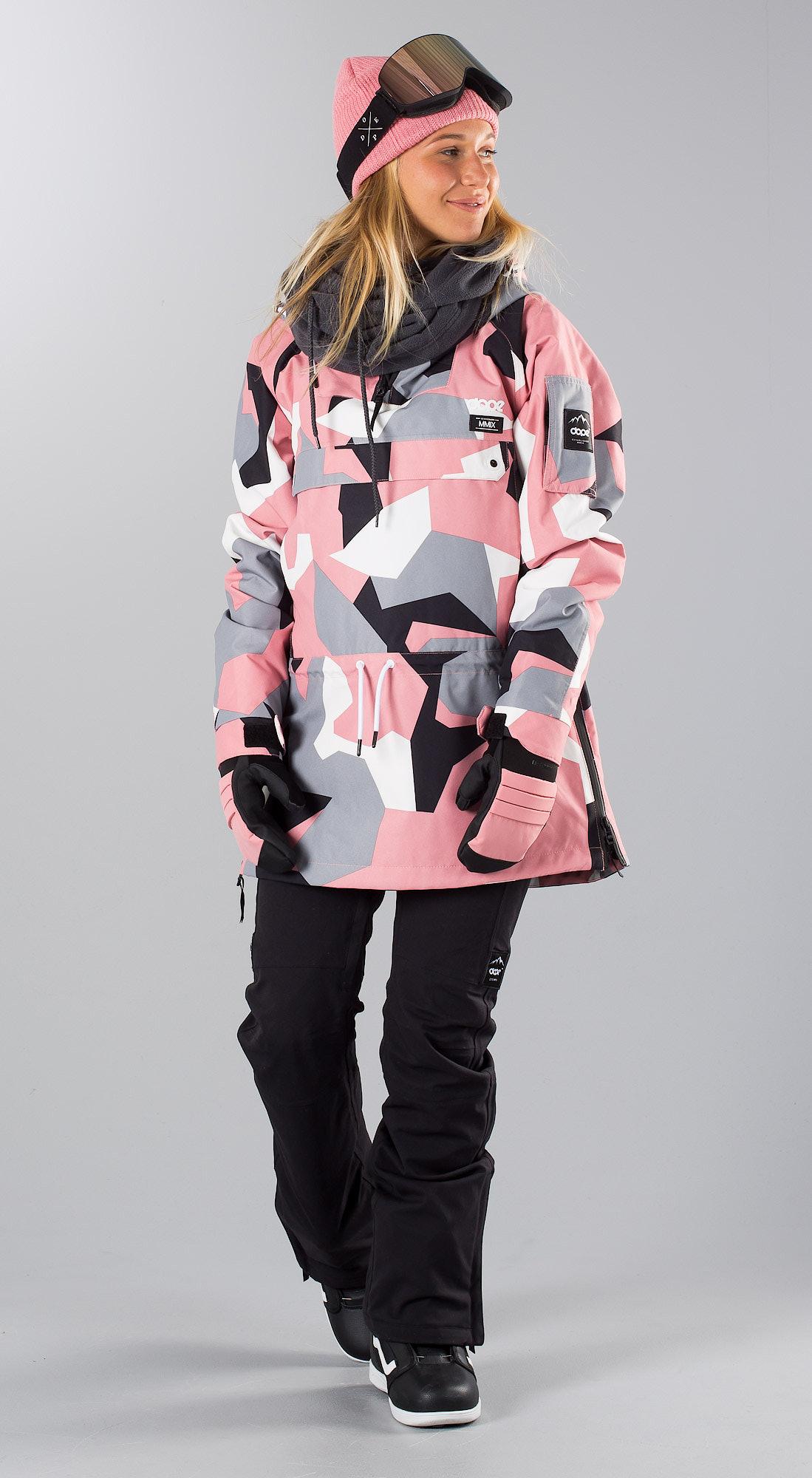 015ca3280c81 Dope Annok W Snowboardjacka Pink Camo - Ridestore.se