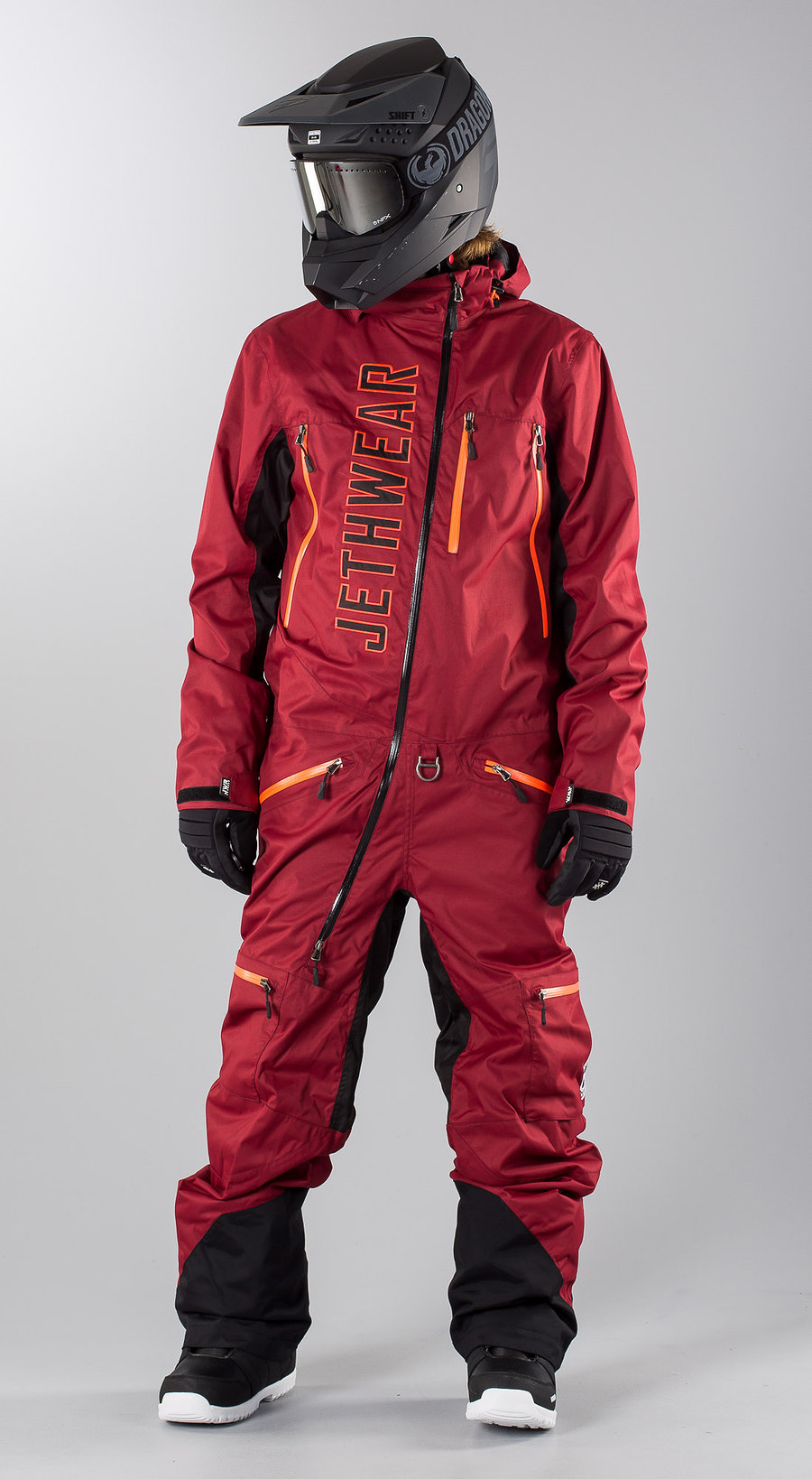 Jethwear The One  Burgundy Snowmobile clothing Multi