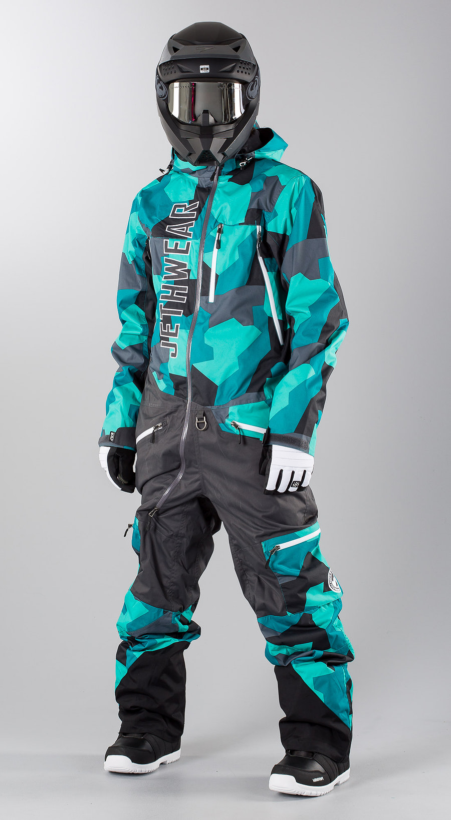 Jethwear The One  Teal Camo Snowmobile Bekleidung Multi