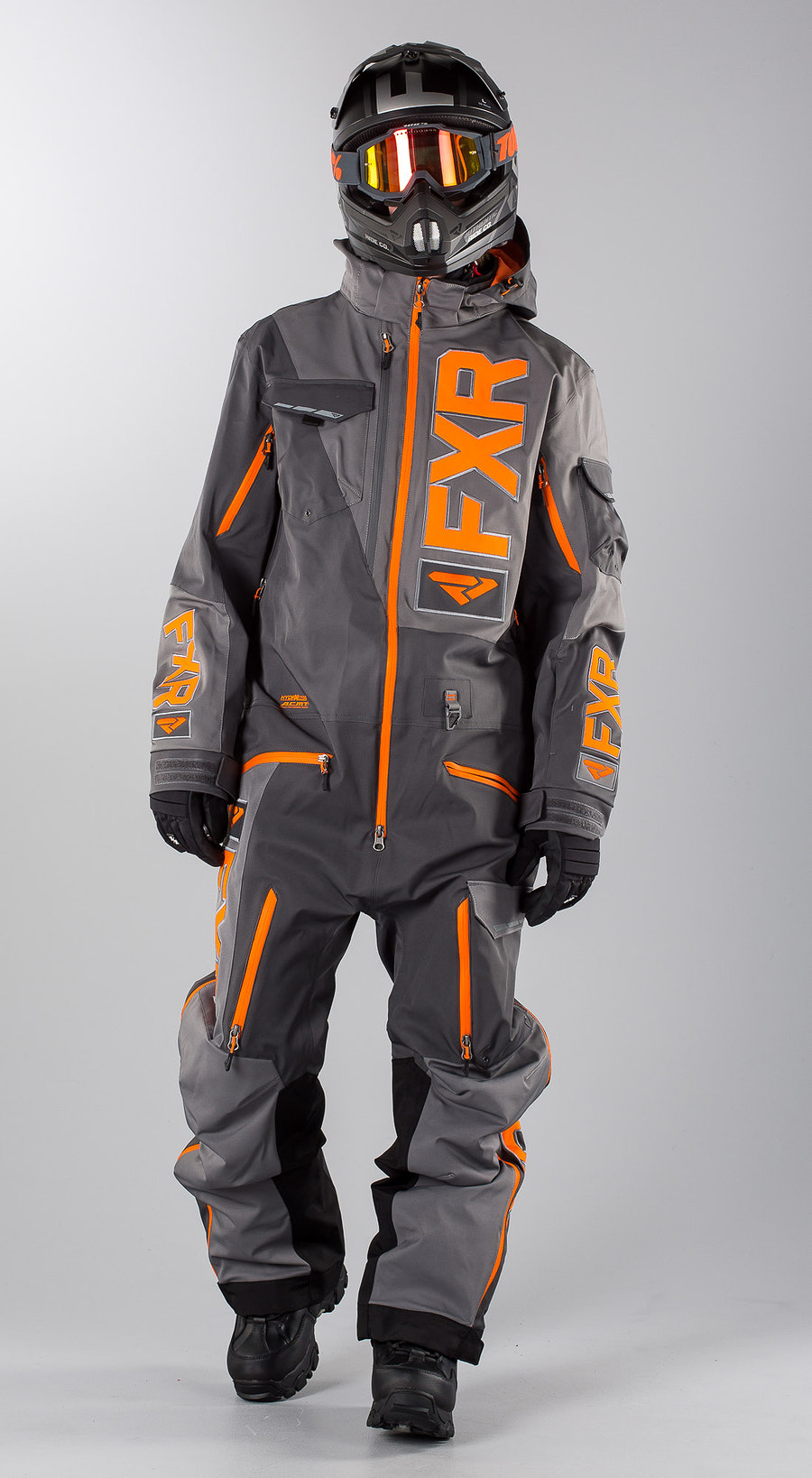 FXR Ranger Instinct Lite Charcoal/Grey/Orange Snowmobile Bekleidung Multi