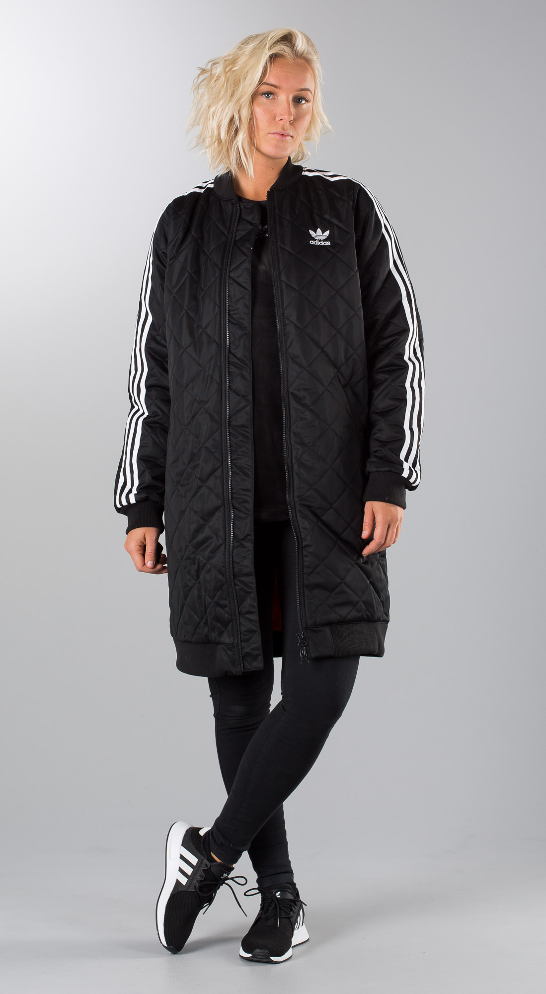 Adidas Originals Long Bomber Black Outfit Ridestore