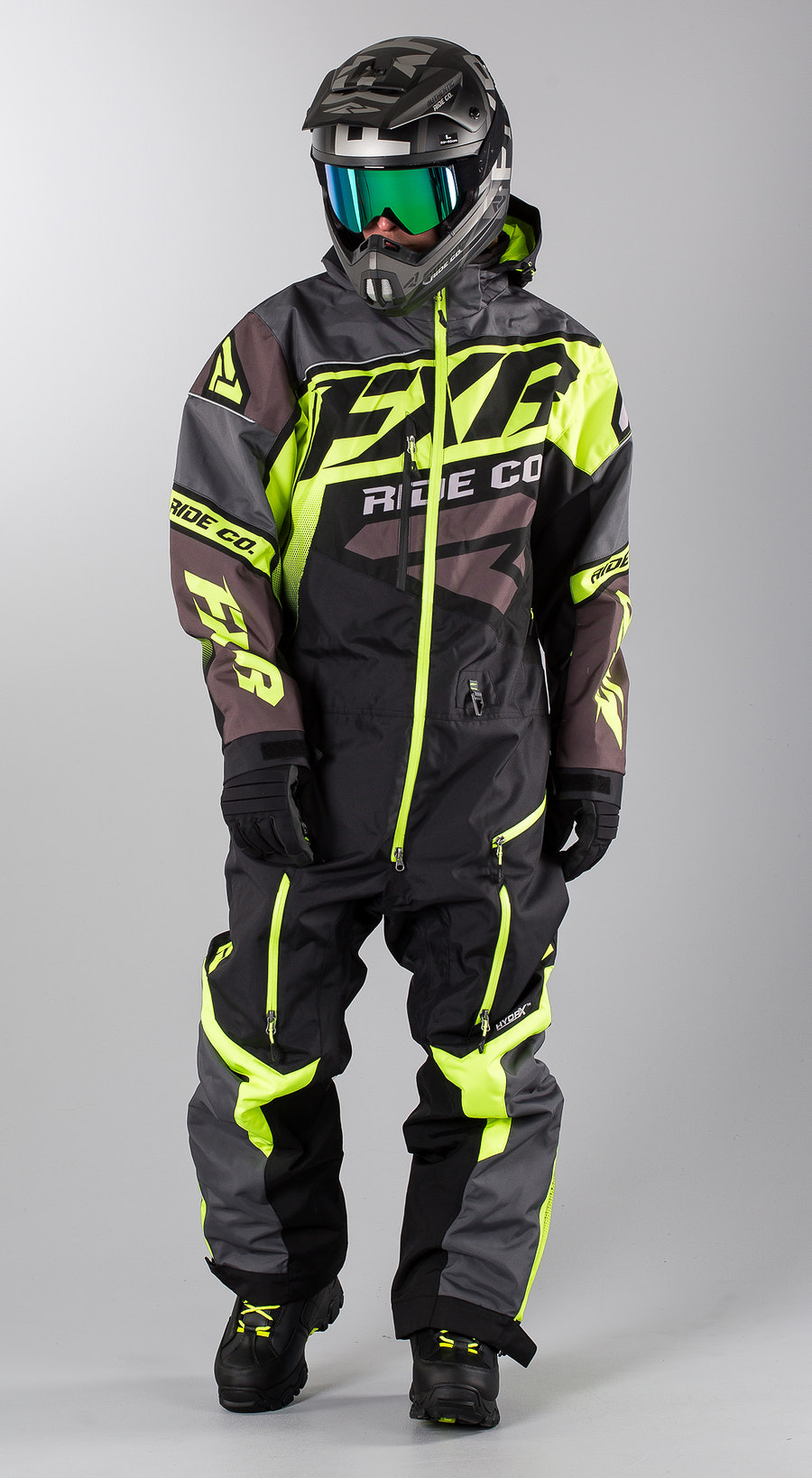 FXR CX Lite Black/Charcoal/Hi Vis Snowmobile Bekleidung Multi