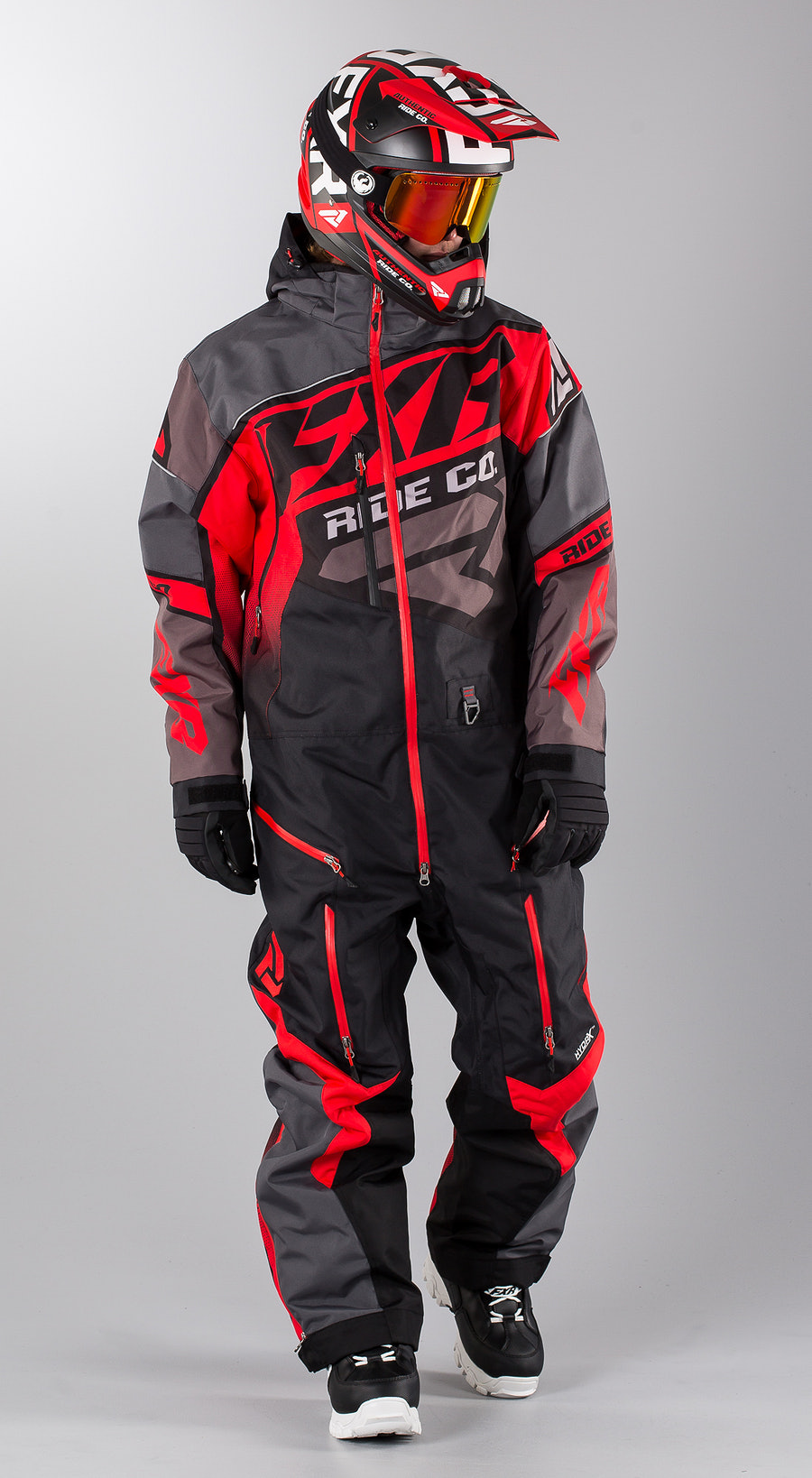 FXR CX Lite Black/Charcoal/Lava Snowmobile Bekleidung Multi