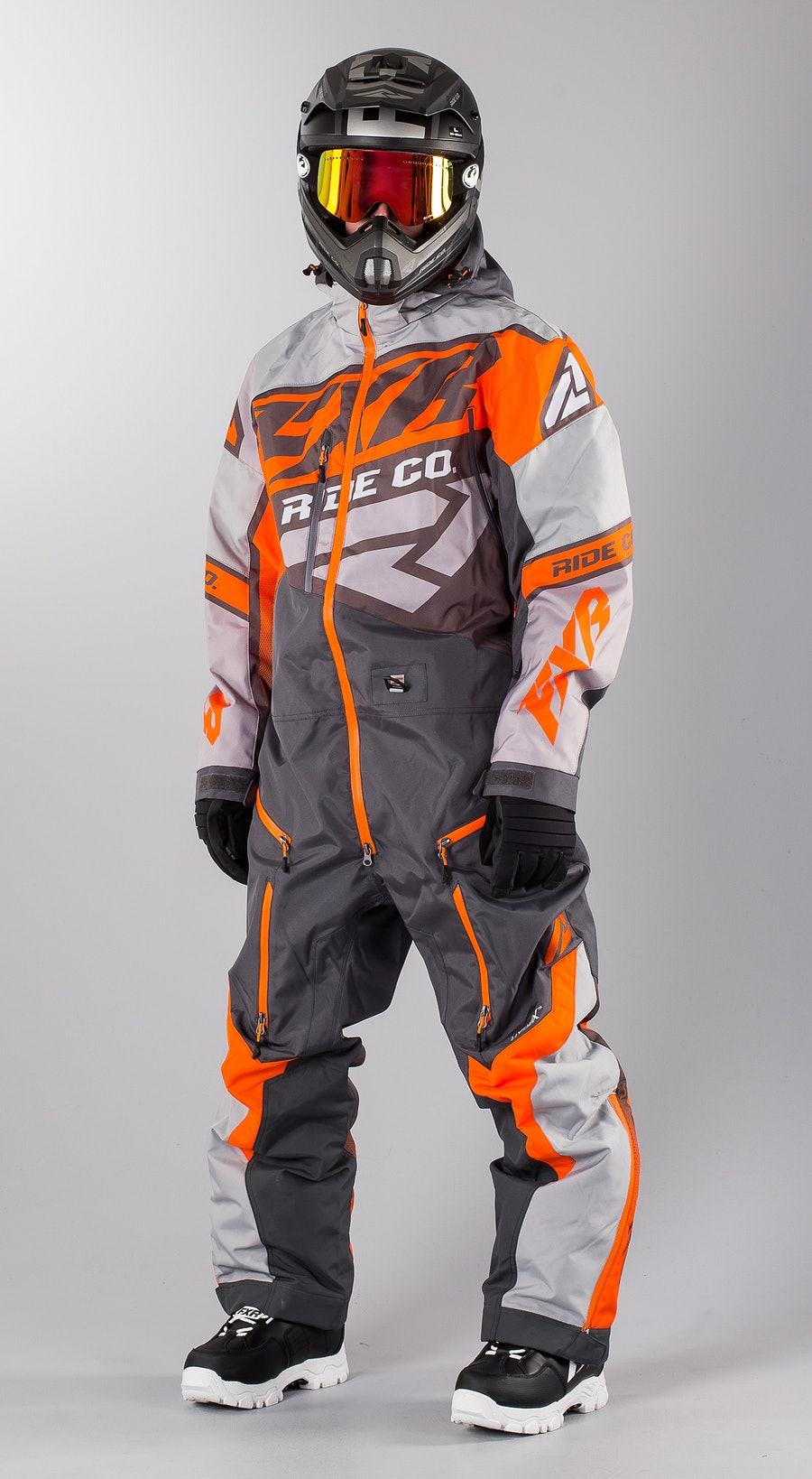 FXR CX Lite Charcoal/Grey/Orange Snowboard clothing Multi