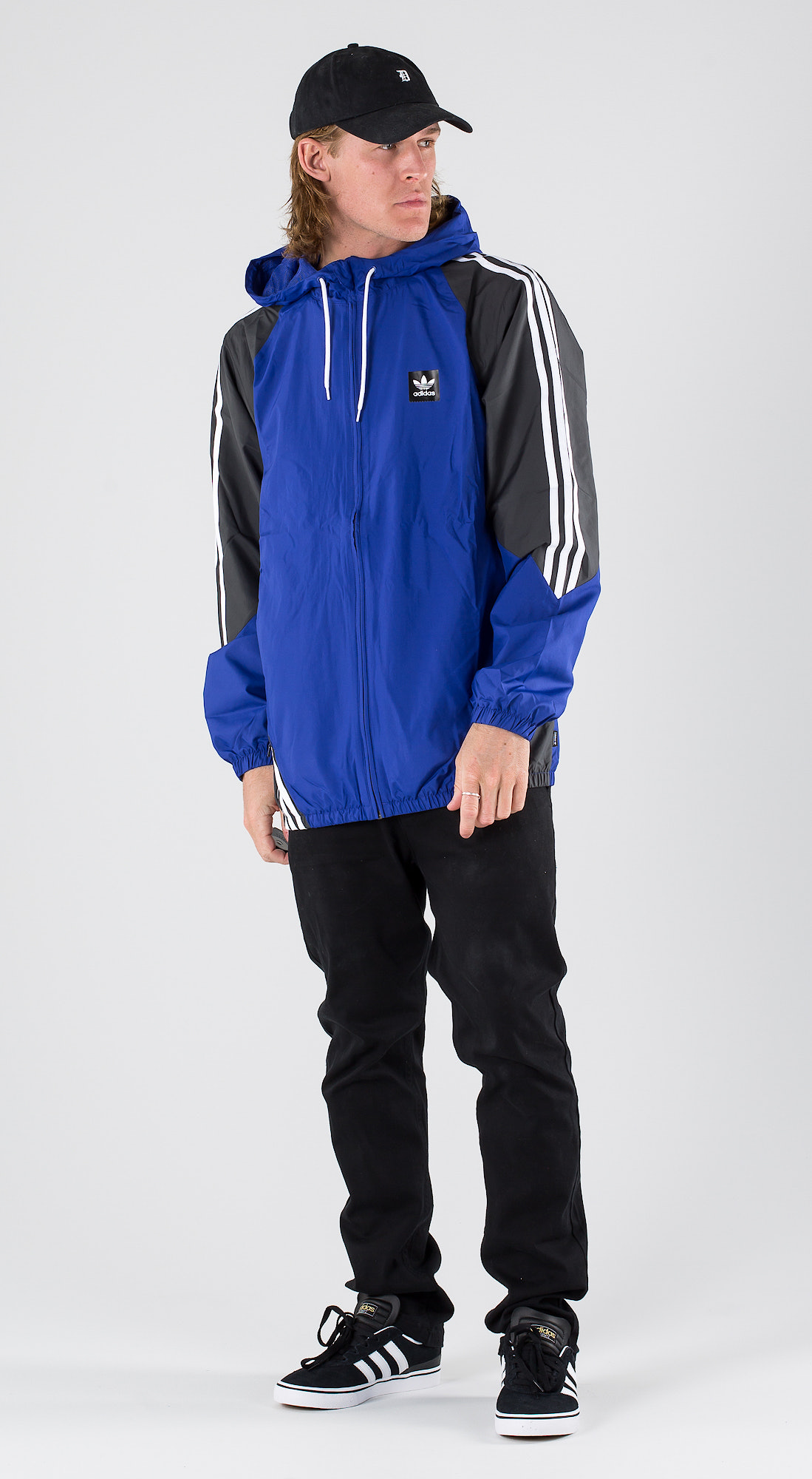 825172419 Adidas Skateboarding Insley Jacket Active Blue/Dgh Solid Grey/White ...