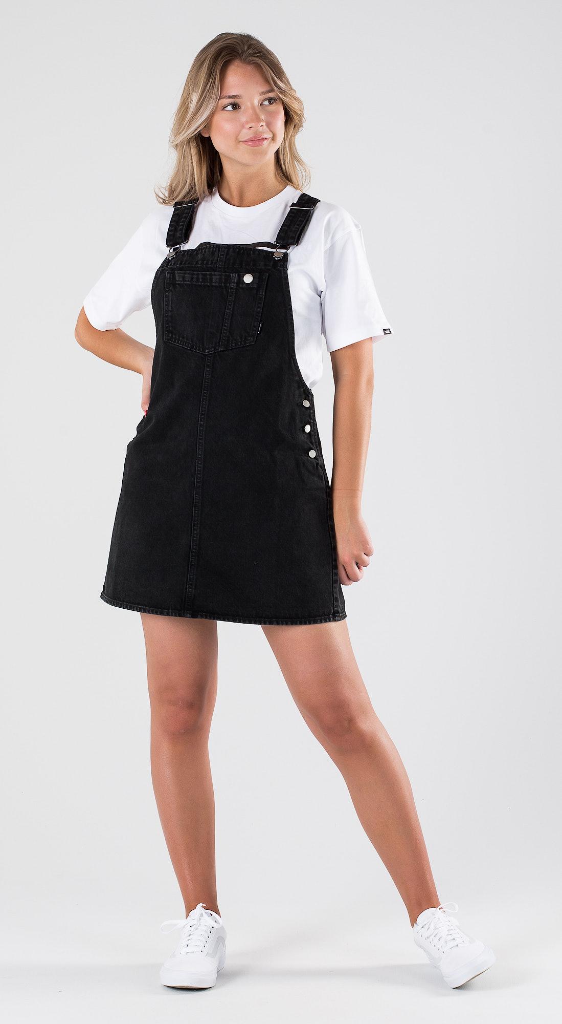 796b2561e453 Dr Denim Eir Dungaree Dress Summer Camp Black Outfit - Ridestore