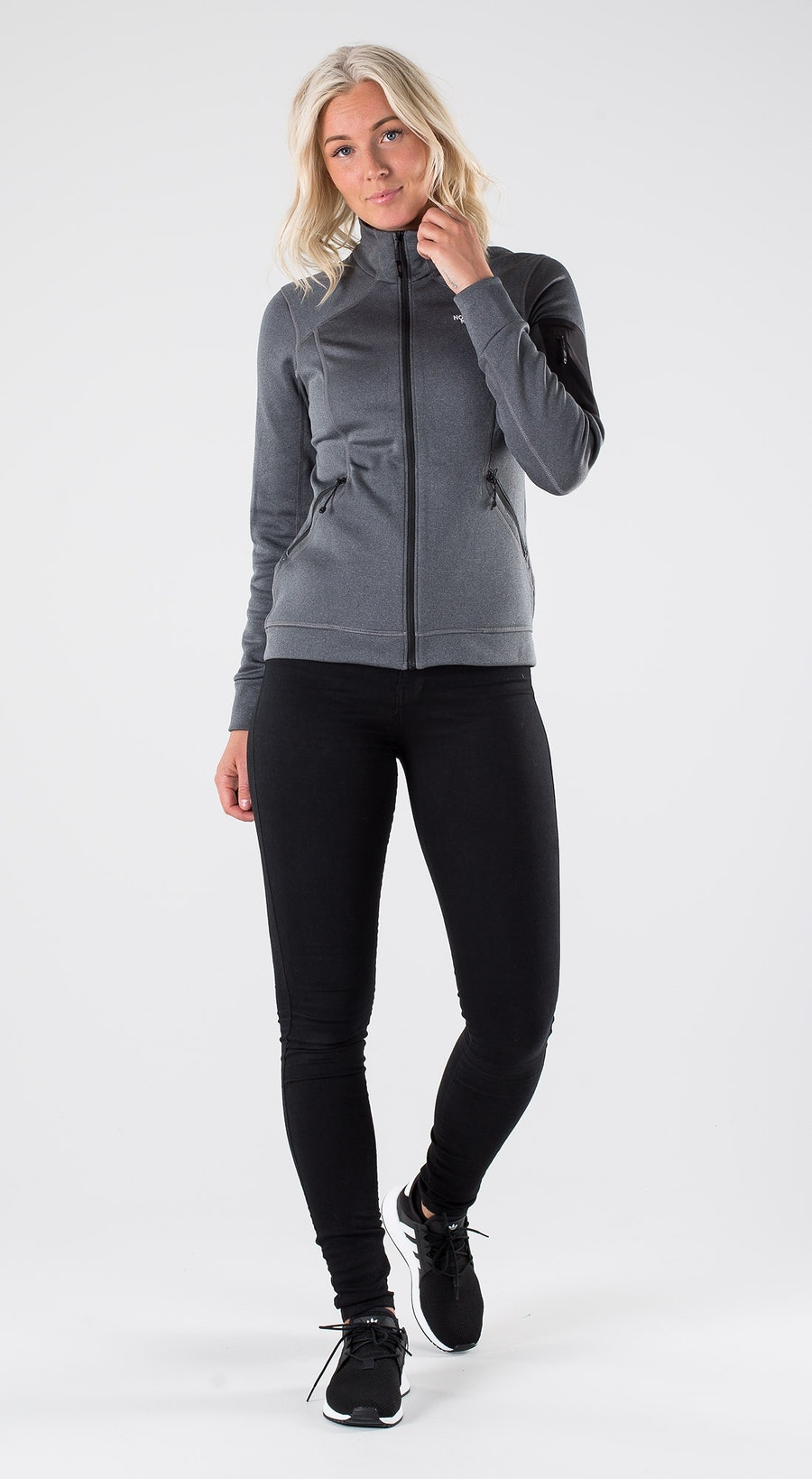 The North Face Impendor Pd Jkt Vanadis Grey Dark Heather Outfit Multi